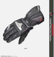 guantes de moto de titanio al por mayor-El paquete electrónico Komine GK169 de titanio de aleación de cuero Guantes de carreras de motos