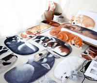 boden trocken großhandel-3D Hund Teppich Tier Gedruckt Teppiche Anti-slip Bodenmatte Küche Bad Matte Teppiche Badematte Absorbieren Trockenen Bad Teppich