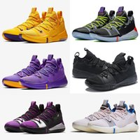 sapatos roxos online venda por atacado-Hot Kobe AD Lakers sapatos de ouro roxo para vendas Baby Kids 2019 Online loja de sapatos de basquete esportivo