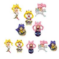 Wholesale sailor moon set for sale - Group buy 5pcs set Sailor Moon Tsukino Usagi Princess Serenity Chibiusa helios mini moon PVC Action Figure Toys cm