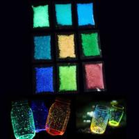 ingrosso pietre di ghiaia per il giardino-Luminous Sand Stones Garden Park Road Ciottoli Glow In Dark Ornaments For Party Aquariums Serbatoio di pesce Decorazione Ornamenti in pietra