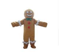 personagens profissionais venda por atacado-Personalidade personalizado gingerbread man traje mascote gingerbread homens mascote roupas de natal festa de halloween fancy dress