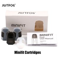 Wholesale cottons resale online - Authentic Justfog Minifit Pod Cartridge ml Capacity ohm Ceramic Cotton Coil Pod Atomizer Fit Original Minifit Starter Kit Genuine