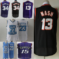 jersey de charles barkley al por mayor-23 Michael MJ Jersey North NCAA Carolina College Vince 15 Carter 13 Nash Charles 34 Barkley Tracy 1 McGrady 1 Hardaway Basketball Jerseys