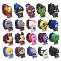 ingrosso orologi capitano-Orologi Vendicatori per bambini Orologi Iron Man Spiderman Hulk Captain America Cartoon Movie Bambino Orologi migliori regali vendita dei bambini caldi di