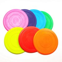 ingrosso giocattolo dell'animale domestico del silicone-Silicone cane volante dischi Frisbee Per Grande Puppy Dog Pet Toy Dog Training strumento Pet Dogs disco morbido silicone Flying Disc LJJA3507