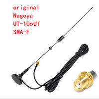 Wholesale car sma resale online - 2pcs original Nagoya UT UV Vehicle Mounted Car Antenna For Baofeng S UV R Two Way Radio Walkie Talkie UT SMA F