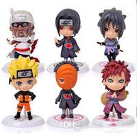 coleção pvc japão venda por atacado-Naruto Sasuke Uzumaki Kakashi Gaara Ação Com Figuras de montagens funko pop Japão Anime Coleções Presentes Brinquedos