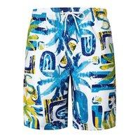 sayı baskısı toptan satış-Erkekler Yaz Plaj Şort Ince Nefes Hızlı Kuru Numaraları Ağaçları Baskı Kısa Pantolon XIN-Nakliye