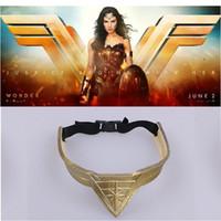 Wholesale wonder woman movie costume for sale - halloween women Movie Wonder Woman Headband Diana Prince Superhero Cosplay Bronze Crown Headwear Headgear Halloween