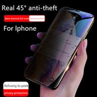 protector de pantalla de fábrica de manzana al por mayor-Venta caliente Privacidad Protector de pantalla iPhoneX Película Película anti-espía completa 7 8 Anti-huella digital Ventas directas de fábrica Apoyo entrega de una sola pieza