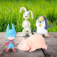 Wholesale masha bear toys online - 10Pcs Set Masha The Bear and Friends Rabbit Squirrel Penguin Goat Pig PVC Figures Toys for Kids Gift