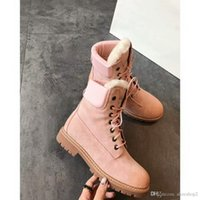 botas marrones para el invierno al por mayor-Buena moda Marca de lujo Martin Boots A X Zapatos de diseño Australiia para mujer Invierno Wgg Botas cómodas Rosa Negro Gris y Marrón Zapatos