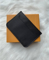 Wholesale sport wallet for men for sale - Group buy 2019 New Mens Fashion Classic Design Casual Credit Card ID Holder Hiqh Quality Real Leather Ultra Slim Wallet Packet Bag For Mans Womans