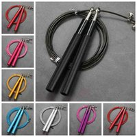 Wholesale jumping ropes for sale - Group buy Professional Jump Rope Steel Wire Jump Rope Adjustable Jumping Rope Training Aluminum Skipping Ropes Fitness Speed Skip ZZA2080