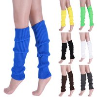 legging strumpfwaren großhandel-Laamei Dropshipping Heiße Frauen Einfarbig Häkelarbeitknit Winter Beinlinge Lange Kniehohe Stiefel Dame Warmer Mode Strumpfwaren Socke