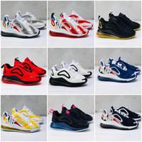 sapatos de porta venda por atacado-Nike Air Max 720 Juventude Tênis de corrida kid Sneakers max run out door Sports shoes tamanho 28-35 72 atmosférico almofada amortecimento