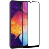 Wholesale colorful tempered glasses online - For Samsung Galaxy A30 A50 A8S A9S A9 H Full Cover Colorful Tempered Glass Screen Protector Silk Print no retail package