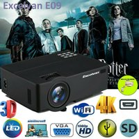 ingrosso proiettore wifi 3d android-Proiettore LED Smart Home Theater Android 6.0 4K Wifi BT 1080p FHD Video film 3D