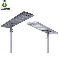 arbeitslegierungen großhandel-Alles in einem Solarstraßenlaterne-IP65 imprägniern Aluminiumlegierungs-LED Solarlicht 4 Arbeitsmodus-Solaraußenbeleuchtung mit Prüfer