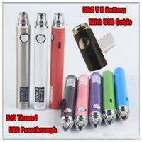 elektronik sigara markaları toptan satış-UGO-V II Vape Kalem Pil 510 eGo Konu UGO-V Oringinal Elektronik Sigaralar UGO-V II eGo-t Piller EcPow DHL Tarafından stokta toplu Toplu