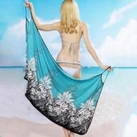 tragen von badetuch großhandel-Frauen Strandkleid Sexy Sling Beach Wear Kleid Sarong Bikini Vertuschungen Wrap Pareo Röcke Handtuch Open-Back Bademode