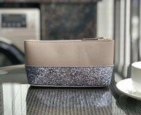 bleistifttasche machen großhandel-neue Glitzer Marke Schminktäschchen Kosmetiktaschen Münze Bleistift Geldbörsen Designer