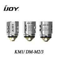 resistencia de la cabeza del atomizador al por mayor-Bobinas originales de malla IJOY KM1 0.15ohm Bobinas DM-M2 0.15ohm 3 / paquete para kit Ijoy Shogun