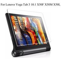 gehärteter glasschirmschutz lenovo großhandel-Ausgeglichenes Glas-Schirm-Schutzfilm für Lenovo Yoga Tab3 Vorsprung 3 10 X50L X50F X50M YT3-X50F 10.1
