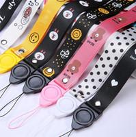 niedliche schlüsselbänder großhandel-Niedlichen Cartoon Umhängeband Lanyards für Schlüssel ID Karte Gym Handygurte USB Badge Holder DIY Hängen Seil Lariat Lanyard