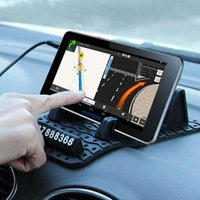 Wholesale sticky gps car dashboard resale online - Auto Temporary Car Parking Card Anti Slip Car Dashboard Sticky Pad Non Slip Mat GPS Phone Holder
