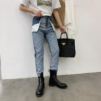 0bb6c40ac6dcd New Men Retro High Waist Casual Denim Pants Male Fashion Streetwear Hip Hop  Reverse Wear Harem Trousers Jeans for Men
