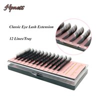 Wholesale eyelash extensions trays silk for sale - Group buy Mink Eye Lash Extension Soft Korea Silk Lashes Lines Tray Classic Lashes For Eyelash Extension Studio