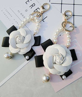Wholesale keychains for girls resale online - leather flower keychain Men Women Creative keychains Jewelry Gift New keyring For Keys Hight quality New Brand