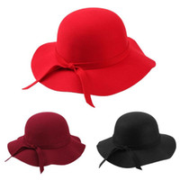 klasik şapkalar toptan satış-Sonbahar Sıcak Çocuk Erkek Kız Vintage Geniş Ağız Havzası Kap Yumuşak Güneş Mahkemesi Şapka Ezilebilir Geniş Brim Cloche Disket Sun Beach Cap Hissettim