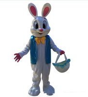 osterhase kostümiert erwachsene großhandel-Hohe Qualität Verkaufen wie heiße Kuchen Professionelle Osterhasen Maskottchen Kostüm Bugs Rabbit Hare Adult