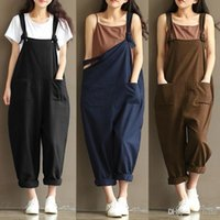 07bef5c29701 New Womens Ladies Casual Pants Cotton Linen Jumpsuit Harem Trousers Romper  Overalls 4 Colors 8 Size. 5% Off