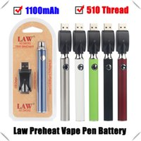 Wholesale 14mm vape resale online - Law mAh Button Variable Voltage Battery Threading Preheat VV Vape Pen mm with USB Charger for smart carts