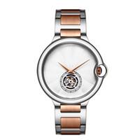 Wholesale designer gold watches online - Aaa Luxury brand men and womens Fashion Watches Fashion tourbillon designer Quartz steel Sport watch Rose Gold Silver Black wristwatch