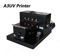 Wholesale metal glass printers resale online - 2018 A3 UV Flatbed Printer Phone Case Printer Glass Metal T shirt with emboss effect