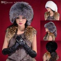 oreja de boina al por mayor-Al por mayor-Moda cálida cola de invierno Beanie Beret Cap para mujer de piel sintética Earflap Hat caliente