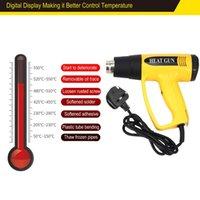 ingrosso vernice lcd-Electric Hot LCD 620B 2000W UK Plug Digital fucile ad aria compressa di calore della temperatura della ventola regolabile Shrink sverniciatore della ripresa di fai da te strumento di ugelli