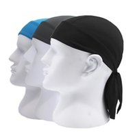 Wholesale black headscarf headband resale online - Breathable Men Cycling Cap Head Scarf Summer Running Riding Headscarf Hat Hood Headband Bicycle Helmet Free Size Sports Accessories