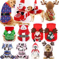 Wholesale large party props for sale - Group buy Christmas pet costume decoration Dog Santa vest Puppy Cat Party Costume Pet Xmas Elk snowflake Party props Hoodies LJJA3274