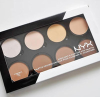 Wholesale foundation highlighter for sale - Group buy Hot Highlighters NYX Highlight Contour Pro Palette professionnelle pour illuminer et accenture color Shadow face Foundation