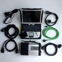 usado ecu venda por atacado-MB Estrela C5 2019 SD Connect C5 com o mais novo software de software 2019.05 ferramenta de diagnóstico mb estrela c5 v ediamo / X / D SA / D TS com CF19 8G I5 cpu usado Laptop
