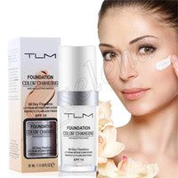 Wholesale cream liquid concealer for sale - Group buy Popular Face Makeup TLM Liquid Foundation color changing All Day Flawless ml Change To Your Skin Tone By Blending Concealer Cream