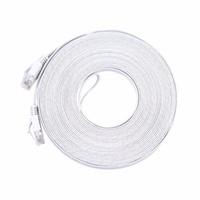 utp patch großhandel-Freeshipping 30M reines kupfernes Kabel CAT6 flaches UTP-Ethernet-Netzwerkkabel RJ45 weiße Farbe des Patch LAN-Kabels