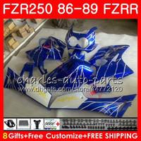 yamaha fzr al por mayor-Cuerpo para YAMAHA FZRR FZR 250R FZR250R 86 87 88 89 123HM.77 FZR250 86 FZR-250 Fábrica de línea azul FZR 250 FZR250RR 1986 1987 1988 1989 Carenados