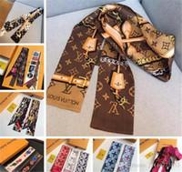 bolsas de moda para la cabeza al por mayor-Bolso de la venda de las mujeres calientes Bufanda Moda Clásico 100% seda real Bufandas banda de pelo de moda de alta qualtiy cabeza Bufanda envío de la gota